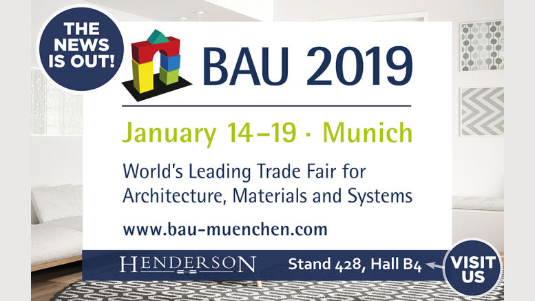 P C Henderson Set to Exhibit at BAU 2019