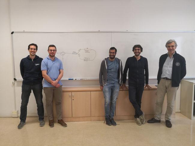 Da sx a dx Andrea Stanco, Costantino Agnesi, Marco Avesani, Giuseppe Vallone, Paolo Villoresi